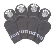 Pet Socks W/ Rubberized Soles - Grey