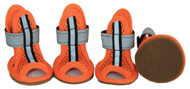 Sporty-Supportive Mesh Pet Sandals - Set Of 4 - Orange