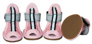 Sporty-Supportive Mesh Pet Sandals - Set Of 4 - Pink
