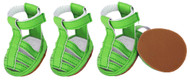 Equip your pup with our green dog sandals!