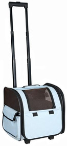 You can take your pet anywhere in the world with this blue Airline Approved Travel Pet Carrier.