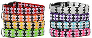 Shop our deco dog collars available in many glowing colors with real bright light that illuminates through the collar.