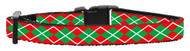 "Deck your Kitty Cat out this holiday season with a festive holiday 3/8"" wide cat safety collar with an Argyle Christmas design."