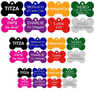 Custom Personalized Engraved Anodized Aluminum Bone Pet ID Tag