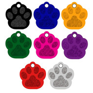 Custom Personalized Engraved Anodized Aluminum Paw Pet ID Tag