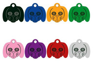 Custom Personalized Engraved Anodized Aluminum Dog Face Pet ID Tag