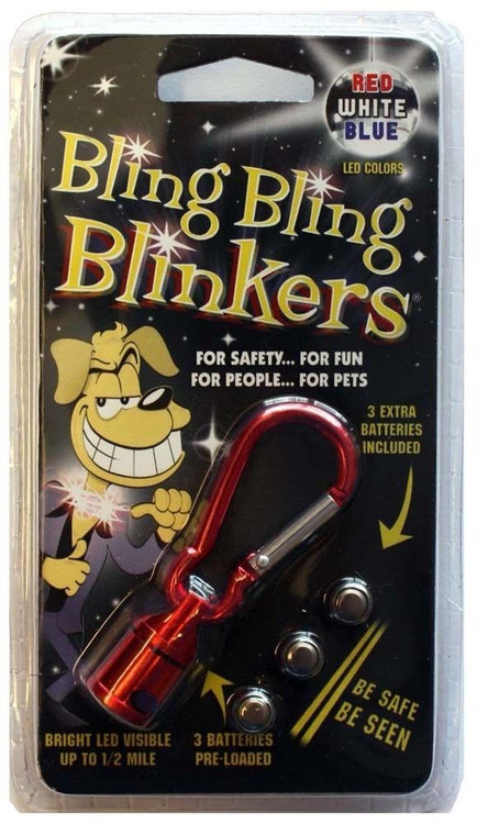It's for safety, it's for fun, it's for people, it's for pet's, it's a Bling, Bling, Blinker.