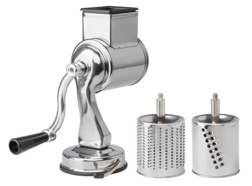 Fante's Cousin Nico's Suction-Base Cheese Grater in Stainless Steel
