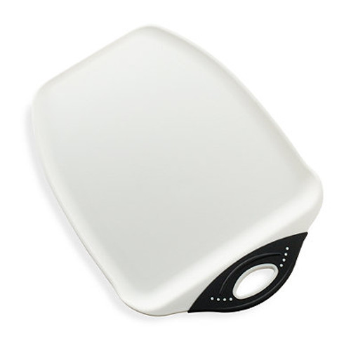 Dexas® Chop and Scoop™ Small Cutting Board in White/Black