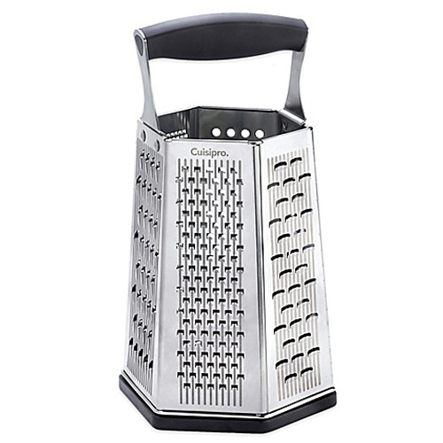 Cuisipro Surface Glide Technology 6-Sided Boxed Grater with Bonus Ginger Grater