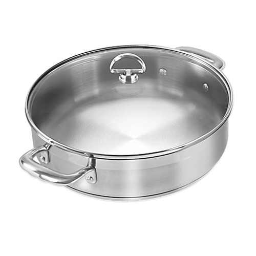 Chantal® Induction 21 Steel™ 5-Quart Covered Sauteuse