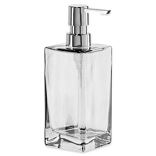 Oggi Tall Glass 13 oz. Soap Dispenser in Grey