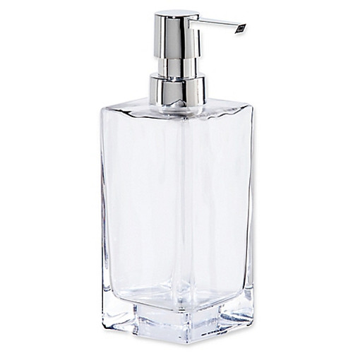 Oggi Tall Glass 13 oz. Soap Dispenser in Clear