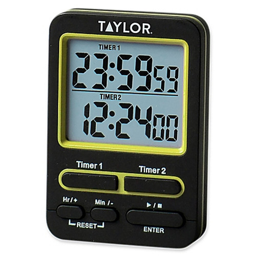 Taylor Dual Event Digital Timer in Black