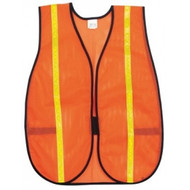 Polyester Mesh Safety Vest 3/4 in. Lime Stripe