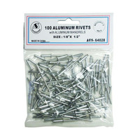 "All Aluminum Rivets - 1/8"" x 1/2"" 64028"