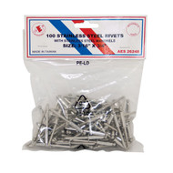 "Stainless Steel Rivets - 3/16"" x 3/4"" - 100PC 26248"