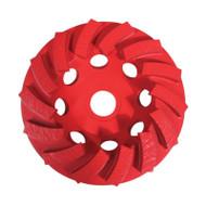Pearl Abrasive PV04CSH Pro-V Series Swirl Segmented Cup Wheel 4 X 5/8-11