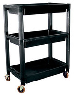 Heavy-Duty Plastic 3-Shelf Utility Cart ATD-7017