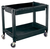 Heavy-Duty Plastic 2-Shelf Utility Cart ATD-7016