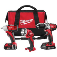 Milwaukee M18 Cordless 3-Tool Combo Kit 2691-23