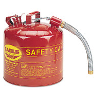 Eagle Mfg 258-U2-51-S 5 Gal 12 Inch Flex Spout 1 Inchod Safety Can