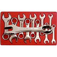10 Piece Metric Stubby Combination Wrench Set V8 8910