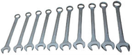 12-Point SAE Jumbo Raised Panel Combination Wrench Set, 10Pc