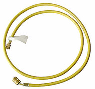 "1/4"" x 72"" (Yellow) Charging Hose with Quick Seal Fittings (R12)"