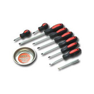 10 Piece Screwdriver Set with Magnetic Dish and Pick-Up Tool