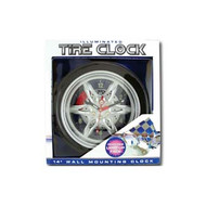 14 in  Back Lit Tire Wall Clock