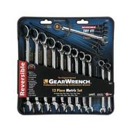 12 pc. Metric Offset Reversible GearWrench Set KDT9620