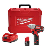 Milwaukee  M12 3/8 in. Impact Wrench Kit 2463-22