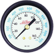 "Air Pressure Gauge - 1/4"" Center Back, 0-300 PSI MIL1192"