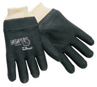 DOUBLE-DIPPED PVC BLACKGLOVES ROUGH FINISH 127-6100S