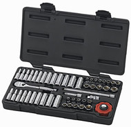 "51 Piece,1/4"" Drive, Fractional/Metric Socket Set"