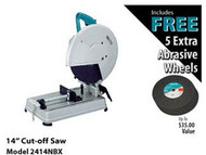 Makita 14 in. Chop Saw w/5pk Cut-Off Wheels 2414NBX