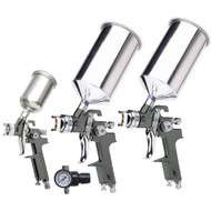 4 Pc. HVLP Gravity Feed Spray Gun Kit (TIT19220)