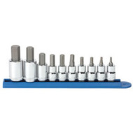 "10 pc. 3/8"" and 1/4"" Dr. Metric Hex Bit Socket Set KDT80578"