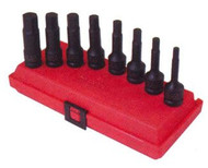 8pc 1/2 in dr. Hex Impact Socket Set SAE, 2648