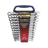 12 pc. Metric Flex Head Combination Ratcheting GearWrench Set KDT9901