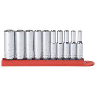 10 pc. 1/4 in  Dr. 6 pt. Deep SAE Socket Set