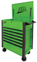 "ATD Tools 35"" 7-Drawer Flip-Top Tool Cart, Green"