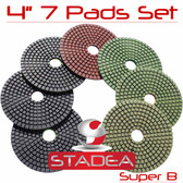 Stadea Diamond Granite Polishing Pads Set For Stone Concrete Polishing, Series Super B