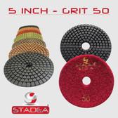 "5"" Stadea Diamond Polishing Pad Concrete Marble Stone Sanding 1 Piece, Series Standard A"