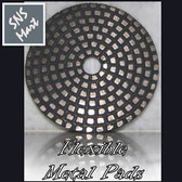 "3"" METAL Brass DIAMOND POLISHING PADS : Pick Grits"