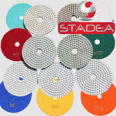 "Stadea 4"" Diamond Polishing Pads Granite Marble Concrete Terrazzo Glass Set, Series Standard J"