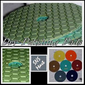 "5"" PRO DRY DIAMOND POLISHING PADS 8 Pc +1 Rubber Backer"