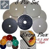 "4"" Premium DRY DIAMOND POLISHING PADS 8Pcs Set GRANITE"