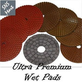 "4"" Diamond Polishing Pad Wet STADEA ULTRA A 8 Pads Set"